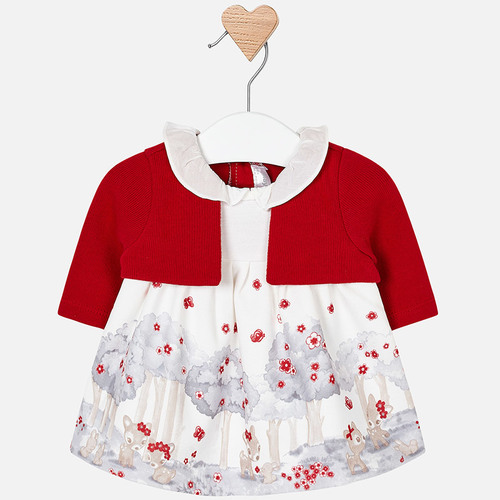 Molo kids fashion    Mayoral ruha őzike mintával Lány Télies ruhák d91cf63b40