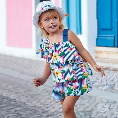 661d0d767e Molo kids fashion :: Mayoral csíkos félvállas ruha Lány Nyári ruhák